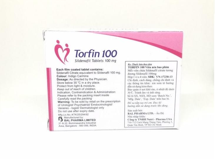 viên thuốc cường dương torfin 100