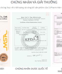 Giấy phép Tem Sentrip 20 mg Hàn Quốc