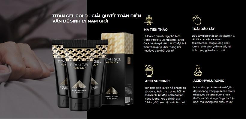 Thành phần Gel Titan Gold